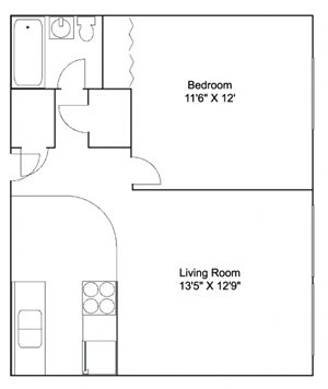 Plaza Apartments in Saint Anthony, MN_One Bedroom