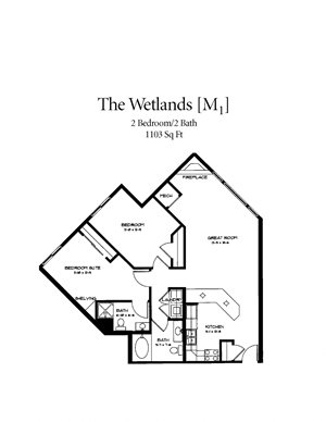 Floor plan at Waterstone Place, Minnesota, 55305