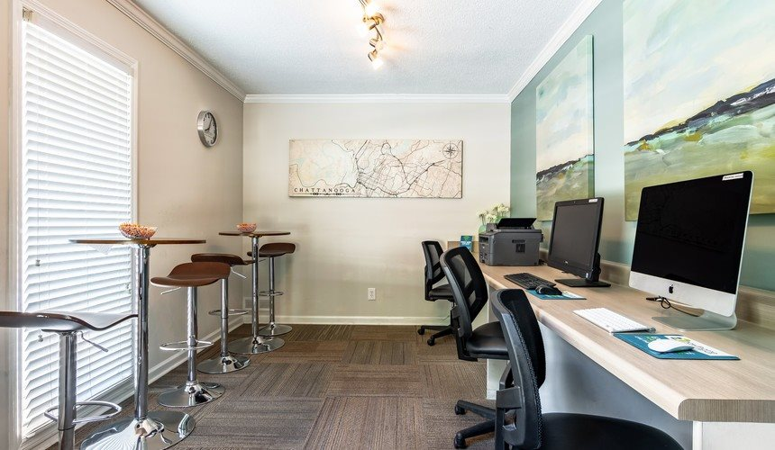 Residential Business Center at Hawthorne Creekside in Chattanooga TN