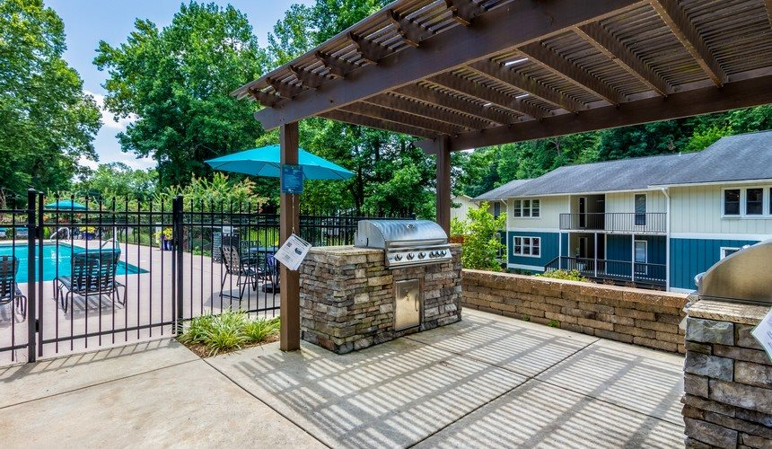Residential Grilling Station at Hawthorne Creekside in Chattanooga TN