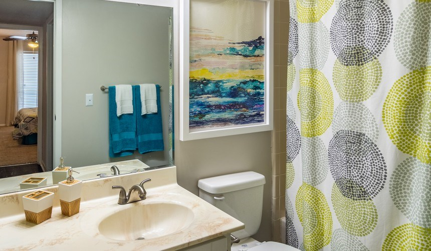 Model Floor Plan Bathroom at Hawthorne Creekside in Chattanooga TN