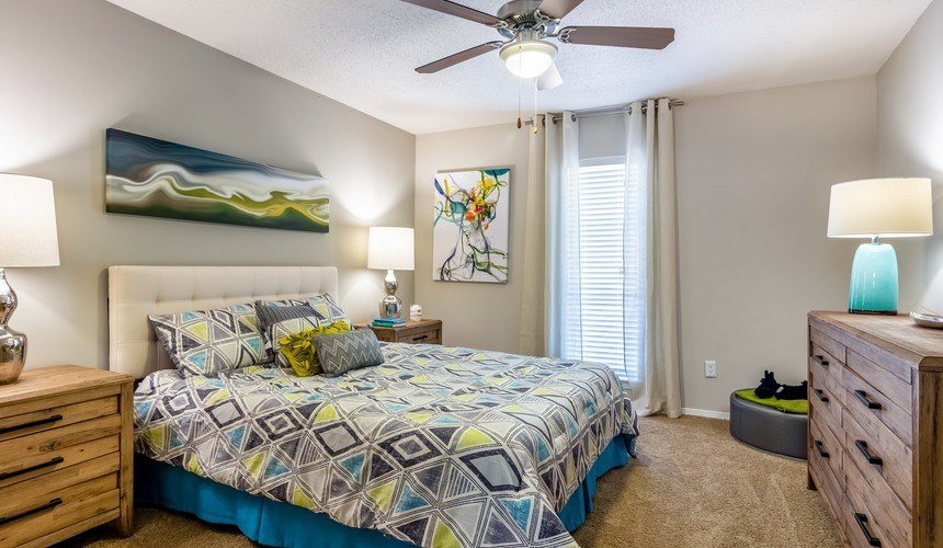 Model Floor Plan Bedroom at Hawthorne Creekside in Chattanooga TN