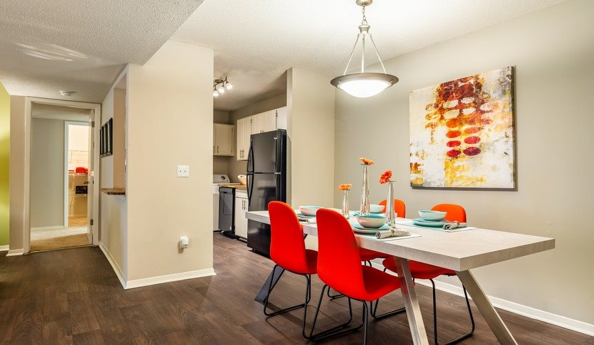 Model Floor Plan Dining Area at Hawthorne Creekside in Chattanooga TN