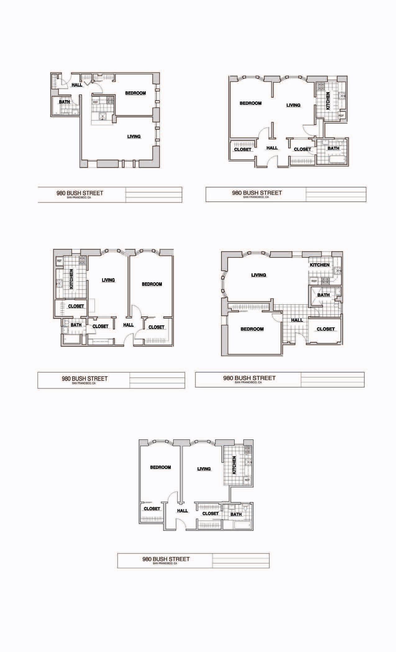 1 Bedroom Floor Plan 3