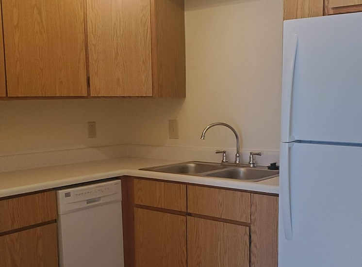 Upgraded kitchen cabinets, flooring and appliances