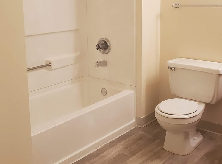 Upgraded bathrooms with new appliances and flooring