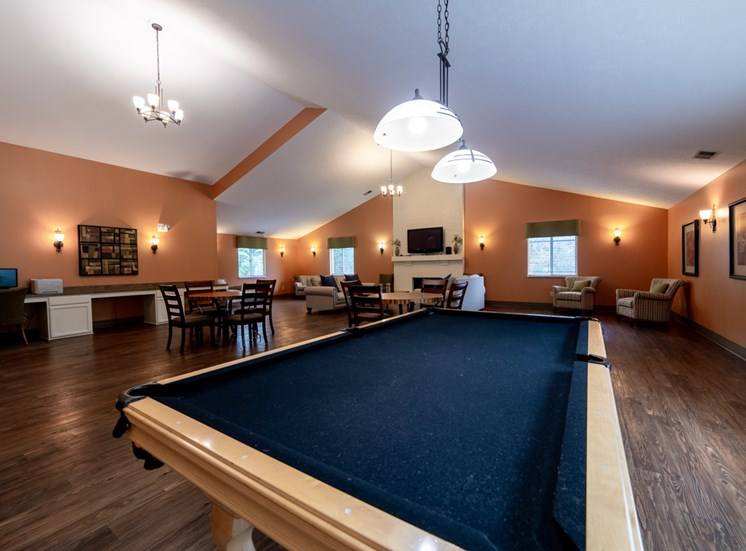 Billiards Table In Clubhouse at Bradford Ridge Apartments, Bloomington