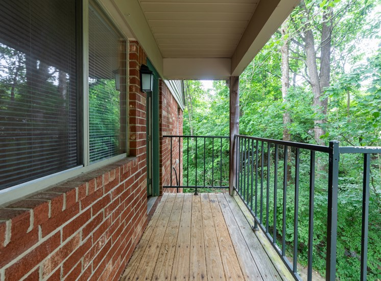 Private Apartment Balcony at Bradford Ridge Apartments, Bloomington, IN
