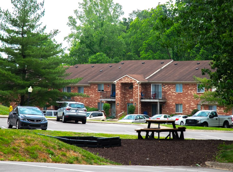 Off Street Parking Facility at Bradford Ridge Apartments, Bloomington, IN, 47403