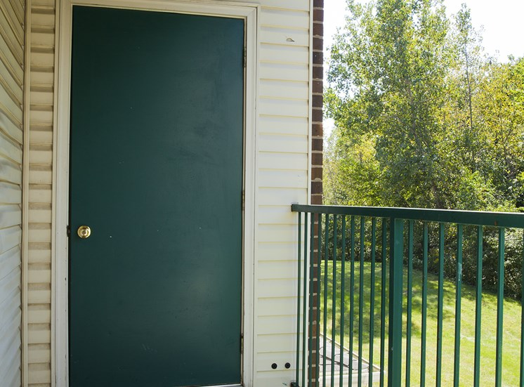 Private patio - Bradford Woods Apartments in Peoria, IL
