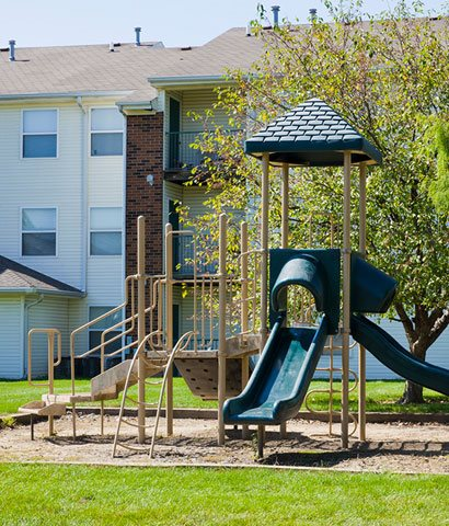 playground Bradford Woods Apartments in Peoria, IL