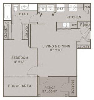 Gentry FloorPlan at Champion Farms Apartments, Louisville, 40241