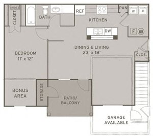 Derby FloorPlan at Champion Farms Apartments, Louisville, KY