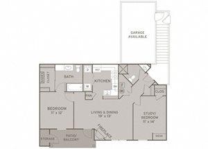 Belmont FloorPlan at Champion Farms Apartments, Kentucky, 40241