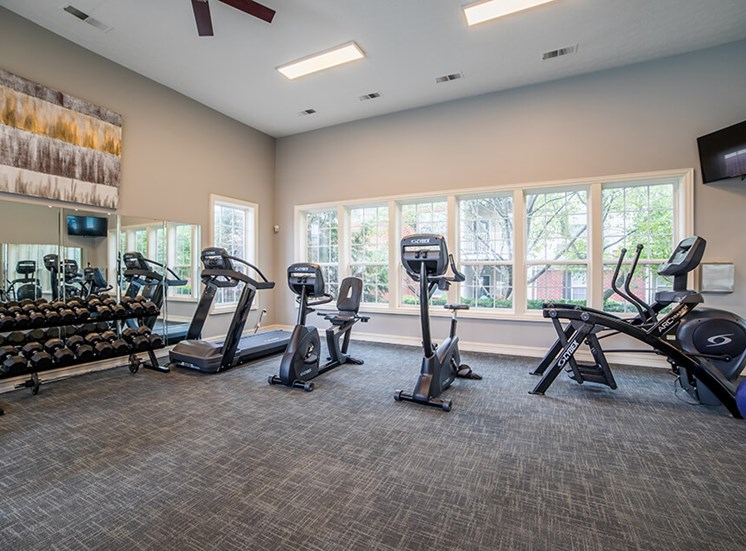 Club-quality Fitness Center at Champion Farms Apartments, Louisville, KY, 40241