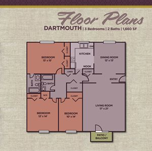 Gramercy three bedroom Apartments in Carmel, IN