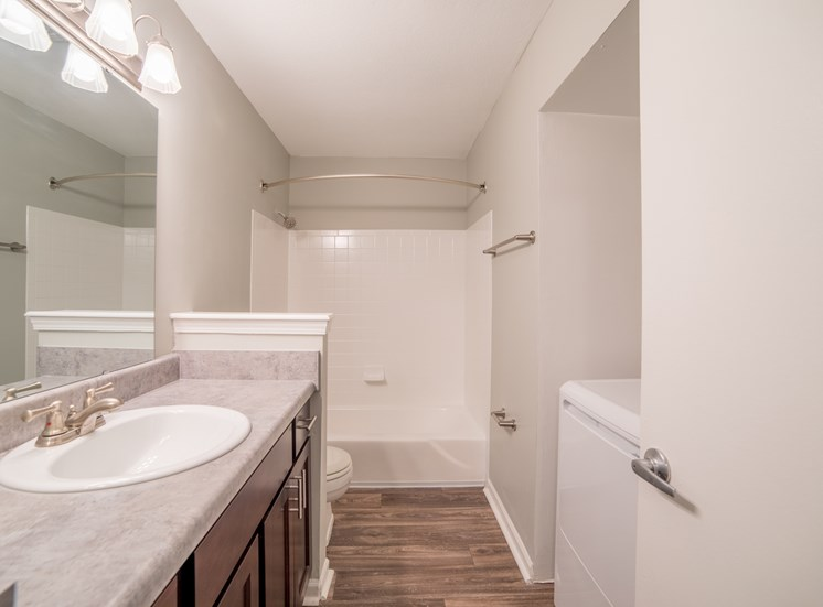 Renovated Bathrooms Coming This May with updated counters and fixtures