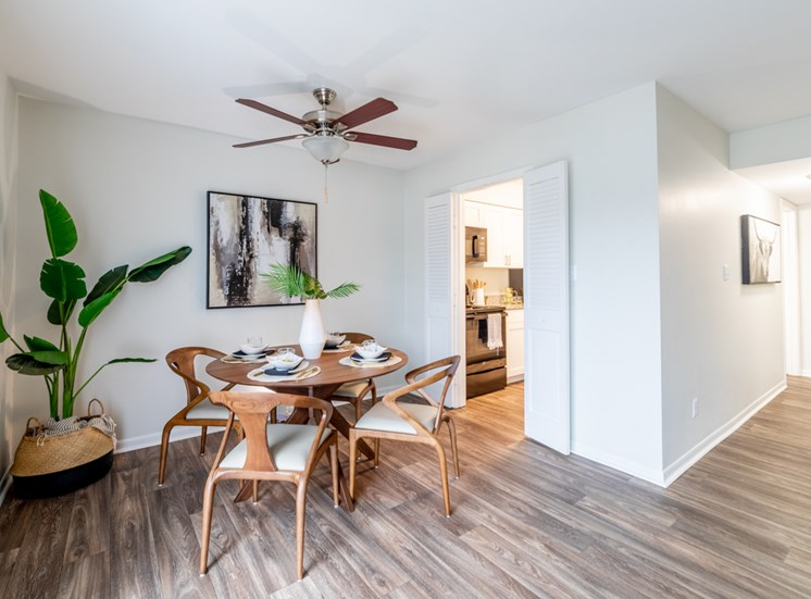 Decorated Dining Area at Governor Square Apartments, Carmel, Indiana