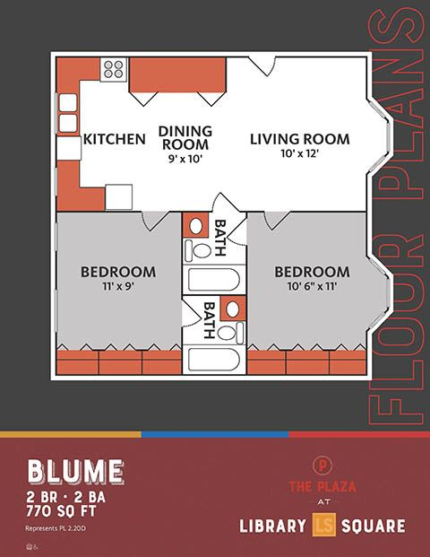 Blume, The Plaza Historic Apartments in Downtown Indianapolis