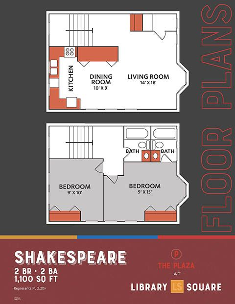 Shakespeare, The Plaza Historic Apartments in Downtown Indianapolis