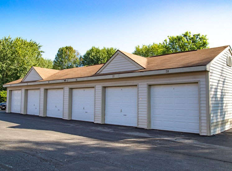 Garages -  Bradford Run Affordable Apartments in Kokomo, Indiana