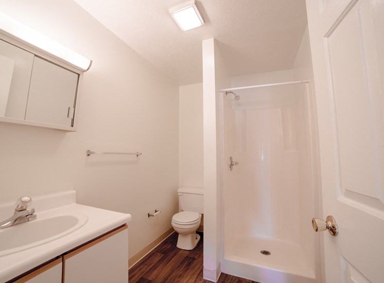 Bathroom =-  Bradford Run Affordable Apartments in Kokomo, Indiana