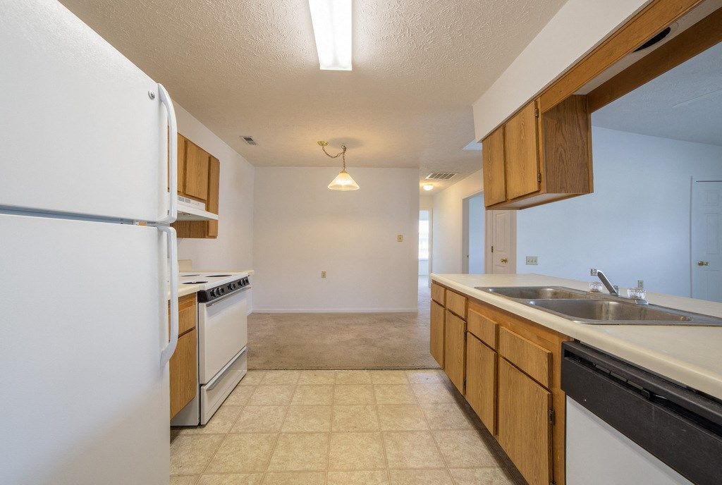 kitchen with tile in apartment