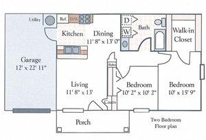 floor plan two bedroom apartment