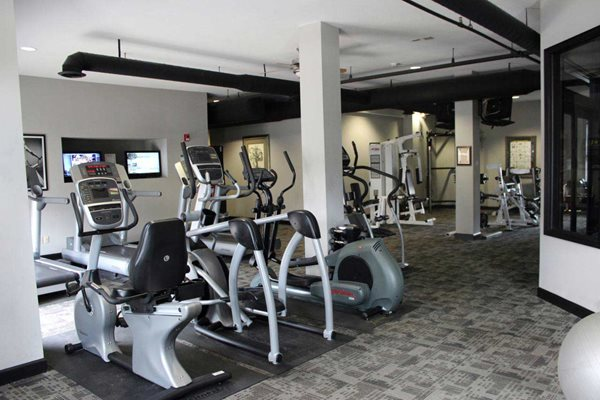 Fitness Center Gym -Providence at Old Meridian Apartments, Lofts and Townhomes in Carmel, IN