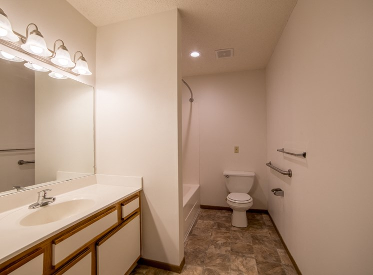 accessible bathroom in apartment