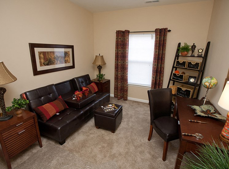 Two Bedroom Rental- Apartments at Grand Prairie, Peoria, Illinois, 5400 West Sienna Lane Peoria, IL, living room, 2 tone walls