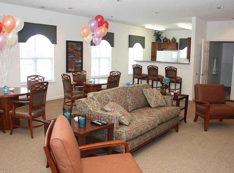 clubhouse lounge area with couches