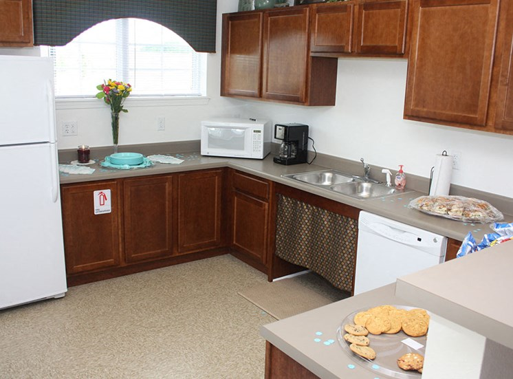 clubhouse shared kitchen