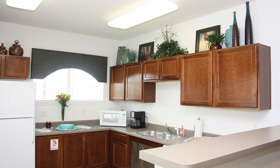 kitchen in clubhouse amenity center