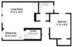 1 Bedroom Floor Plan A3