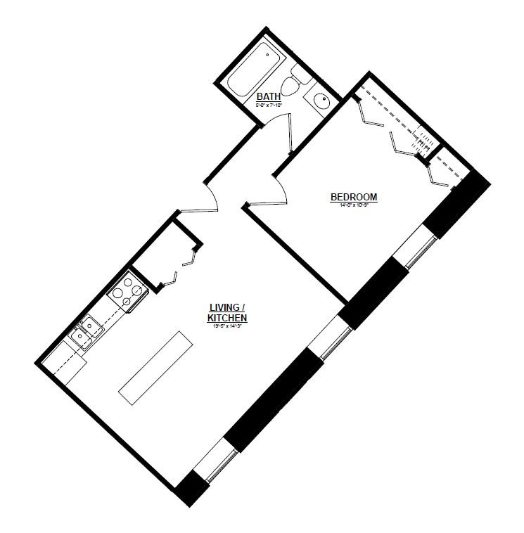 Argyle - One Bedroom A Floor Plan