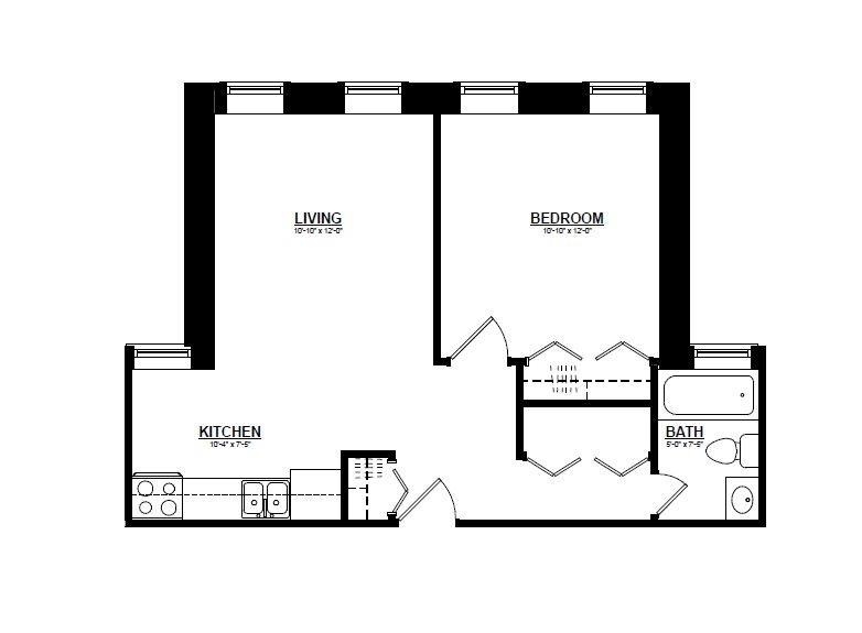 Argyle - One Bedroom C Floor Plan
