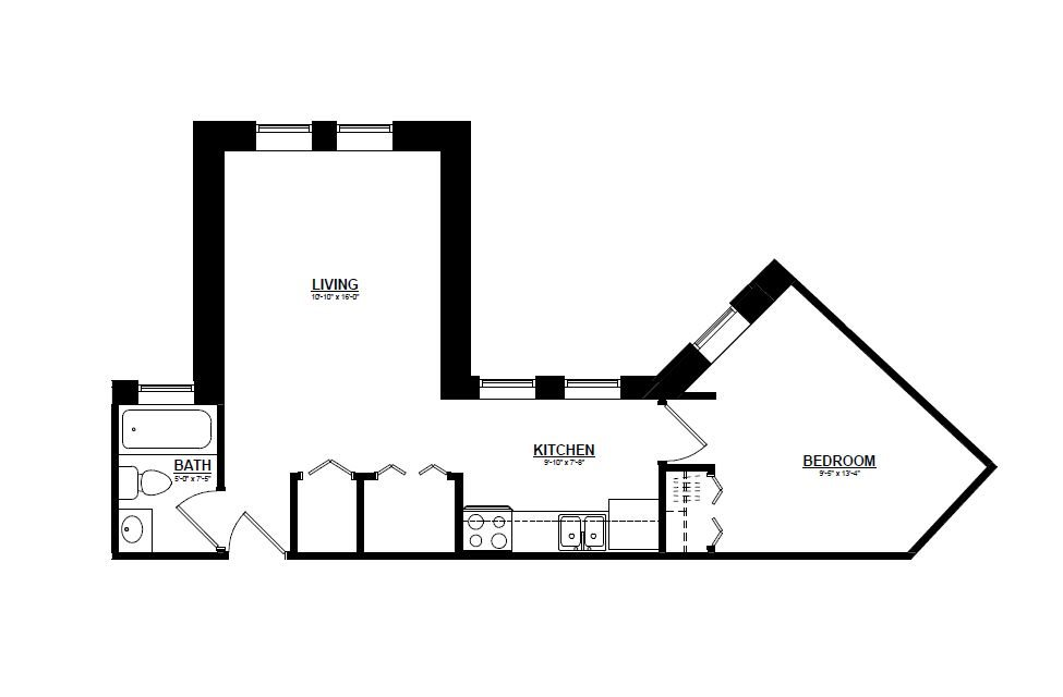 Argyle - One Bedroom E Floor Plan