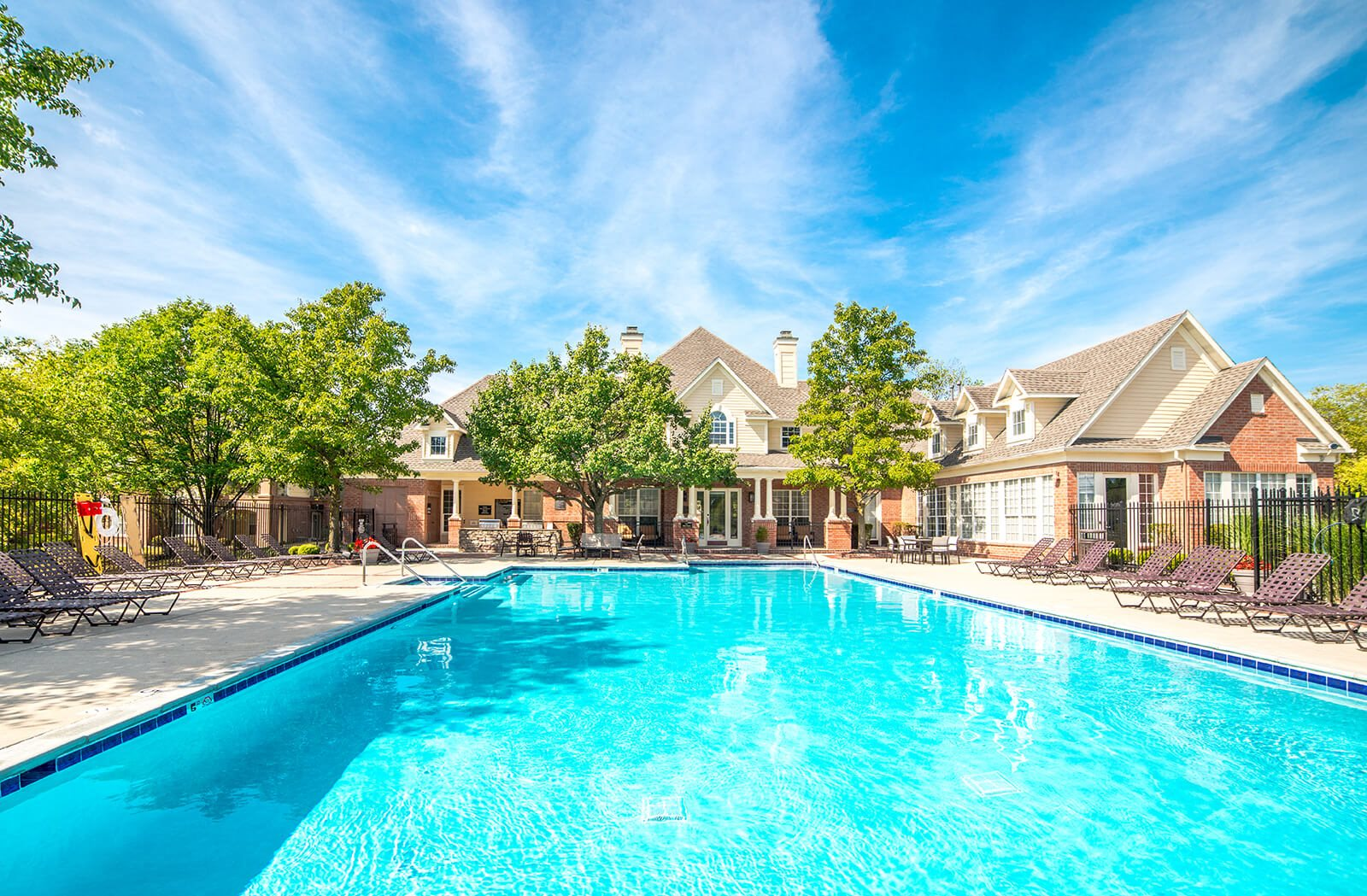 Pool Side Relaxing Area at The Village on Spring Mill, Indiana, 46032