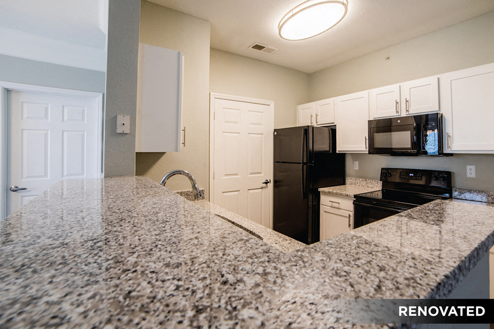 Breakfast Bars with Quartz Countertops at The Village on Spring Mill, Carmel, IN