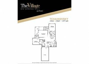 Tchaikovsky FloorPlan at The Village on Spring Mill, Carmel, IN, 46032