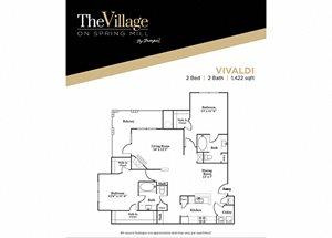 Vivaldi FloorPlan at The Village on Spring Mill, Carmel, 46032