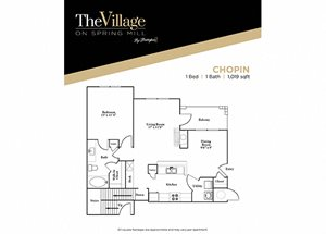 Chopin FloorPlan at The Village on Spring Mill, Indiana