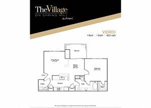 Verdi FloorPlan at The Village on Spring Mill, Carmel, IN, 46032