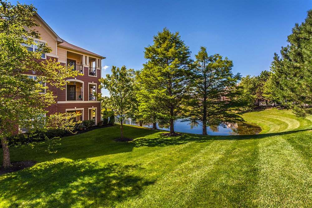 Beautifully Landscaped Grounds at The Village on Spring Mill, Indiana