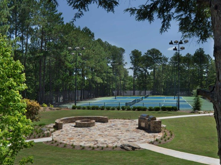 Gas Grilling Area and Tennis Court