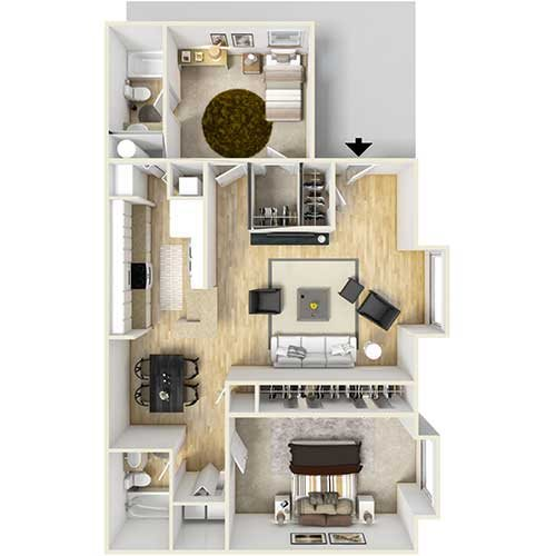B3 - Roommate Floor Plan 5