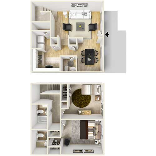 B2 - Townhome Floor Plan 4
