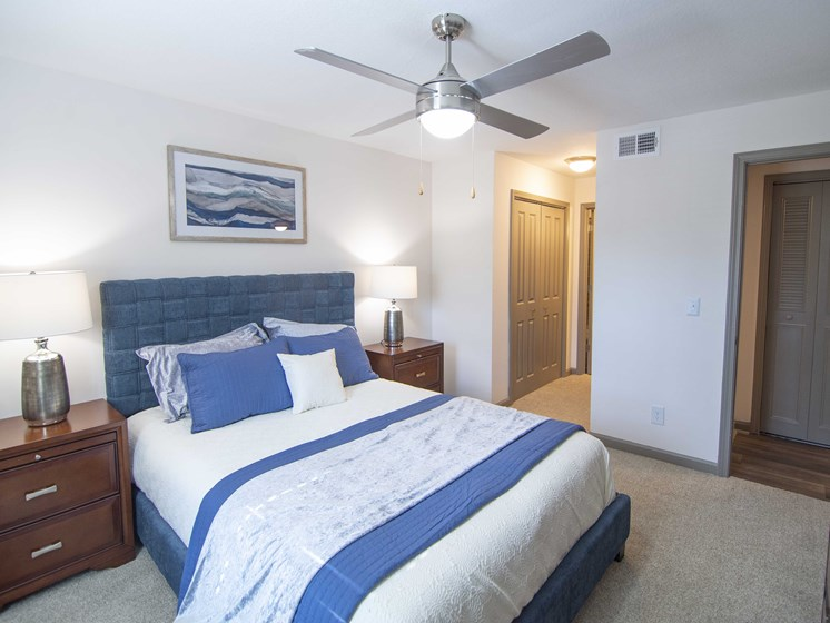 Bedroom With Ceiling Fan at Paces Ridge at Vinings, Atlanta, GA, 30339