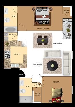 2 bedroom 2 bathroom condo